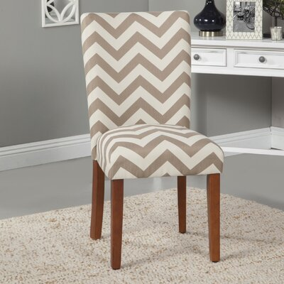 HomePop Chevron Parsons Chair (Set of 2)