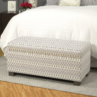 Bungalow Rose Mumtaz Upholstered Decorative Storage Ottoman