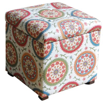 HomePop Fashion Upholstered Storage Cube Ottoman