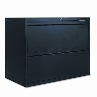 Alera® Two-Drawer Lateral File Cabinet, 36w x 19-1/4d x 29h, Black