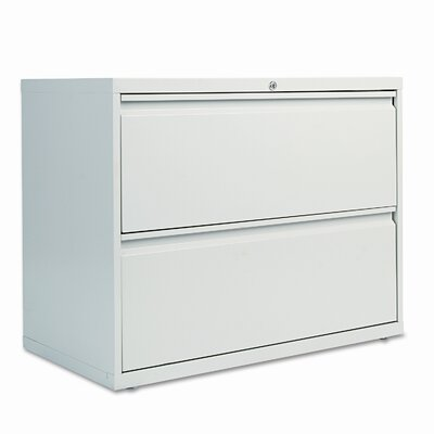 Alera® Two Drawer Lateral File Cabinet, 36w x 19-1/4d x 29h, Light Gray