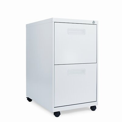 Alera® Two Drawer Mobile Pedestal File, 15-7/8w x 28-1/4h x 23-1/4d, Light Gray