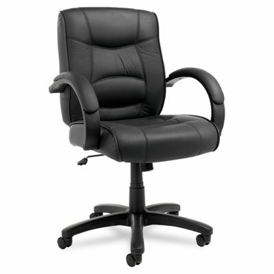 Alera® Strada Series Mid-Back Leather Office Chair
