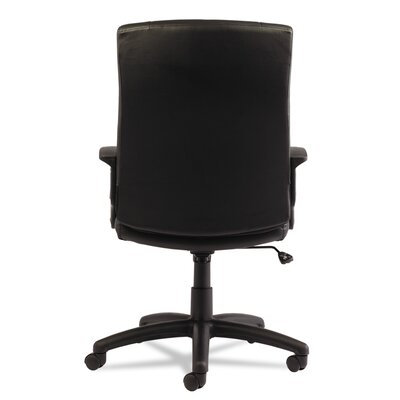 Alera® YR Series High-Back Leather Executive Swivel/Tilt Office Chair