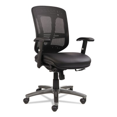 Alera? Eon Series Mid-Back Multifunction Leather/Mesh Office Chair