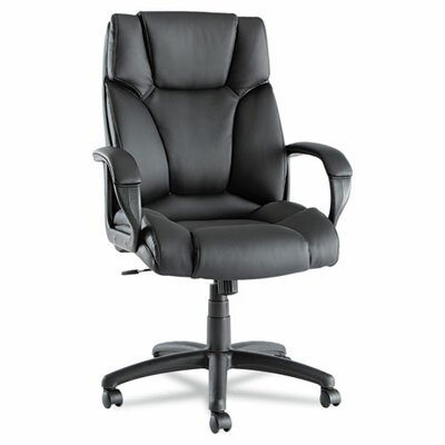 Alera® Fraze High-Back Swivel/Tilt Chair in Black Leather