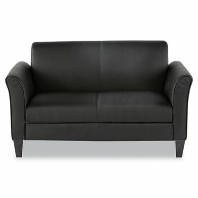 Alera® Leather Loveseat