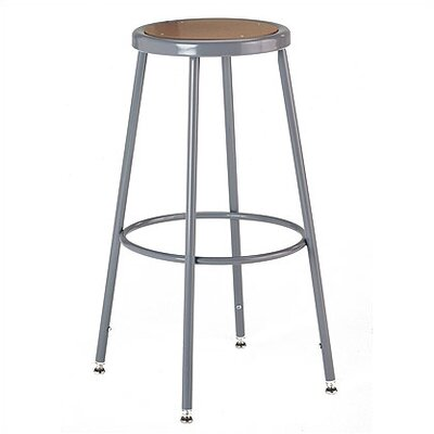 KI Furniture Height Adjustable Stool with Adjustable Legs Image
