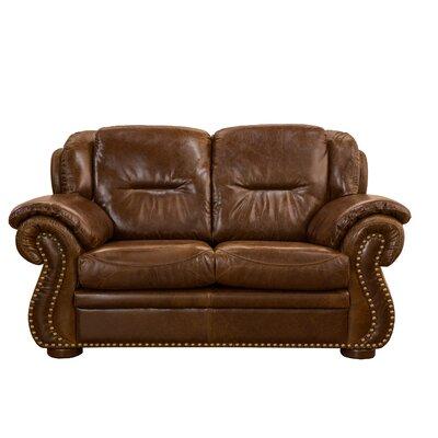 Fornirama Wyatt Top Grain Leather Loveseat