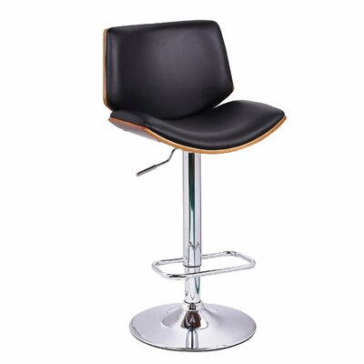 Brayden Studio Slocum Adjustable Height Swivel Bar Stool