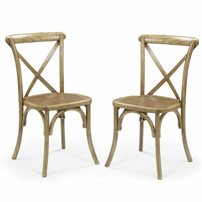 Adeco Trading Stackable Dining Side Chair (Set of 2)