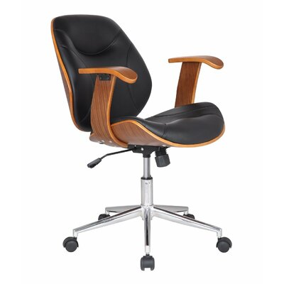 Adeco Trading Bentwood Task Chair with Arms
