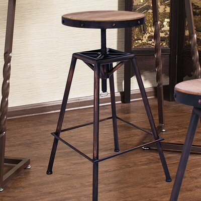 Adeco Trading Adjustable Height Swivel Bar Stool