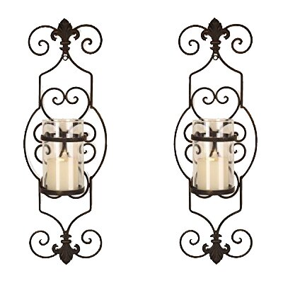 Iron Wall Sconce Candle Holder By Adeco Trading : AdecoTrading Iron Wall Sconce Candle Holder & Reviews Wayfair.ca
