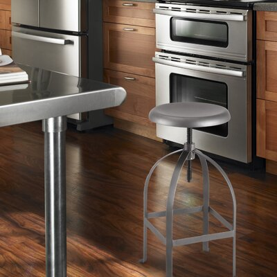 Adeco Trading Logan Adjustable Height Bar Stool