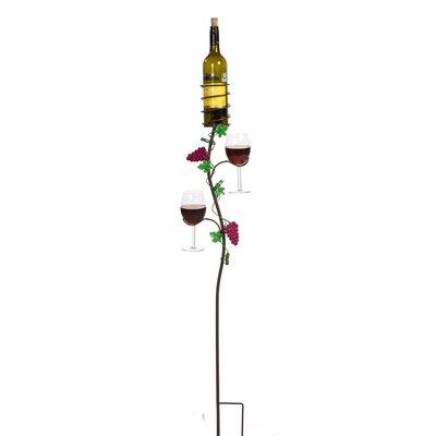 Picnic Plus Ground Stake 1 Bottle Wall Mounted Wine Rack