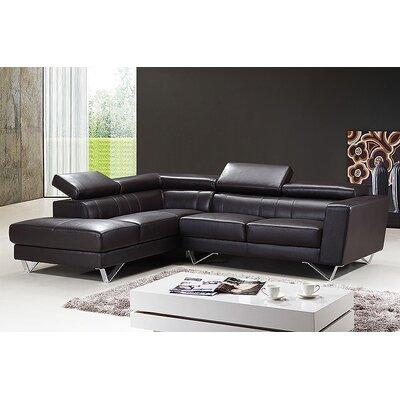 At Home USA Amalia Leather Sectional