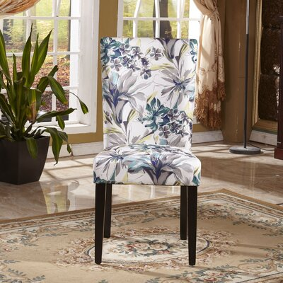 Bellasario Collection Elegant Floral Parsons Chair (Set of 2)