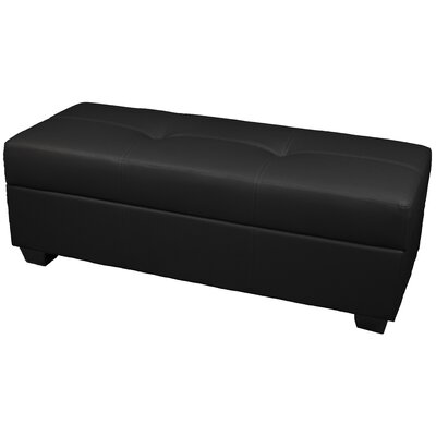Epic Furnishings LLC Biltmore Tufted Padded Hinged Loveseat Storage Ottoman