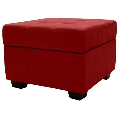 Epic Furnishings LLC Biltmore Tufted Padded Hinged Storage Ottoman