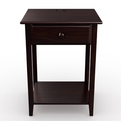 StorageManiac 1 Drawer Nightstand