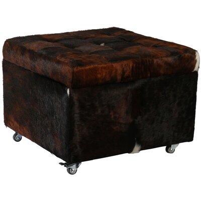 Deco Hides Alassio Cowhide Leather Storage Ottoman