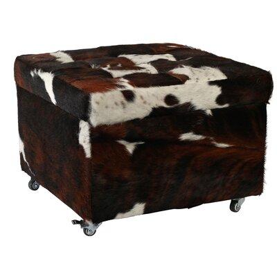 Deco Hides San Remo Cowhide Leather Storage Ottoman