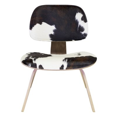 Design Tree Home Cow Hide Lounge Chair