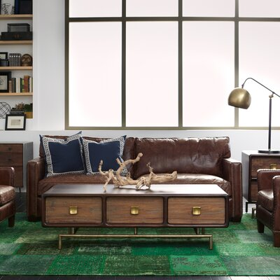 Design Tree Home Larkin Leather Sofa