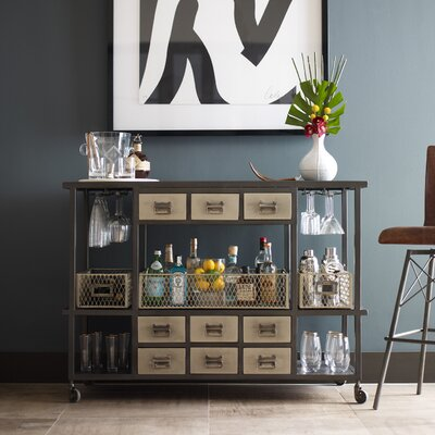 Design Tree Home Industrial Bar Serving Cart