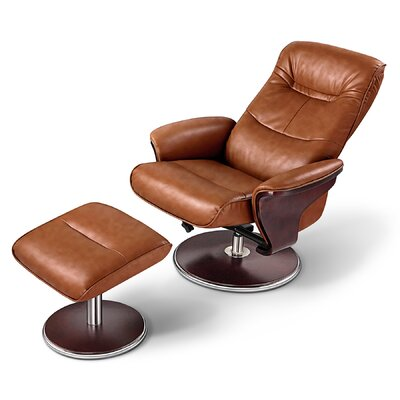 Artiva USA Milano Leather Swivel Recliner an..