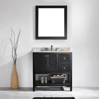 Vinnova Florence 36 Single Vanity Set With Mirror Reviews Wayfair