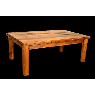 Utah Mountain Barnwood Coffee Table with Round Legs