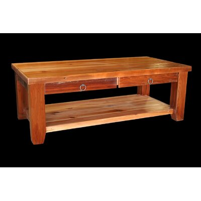 Utah Mountain Barnwood Coffee Table with Shelf