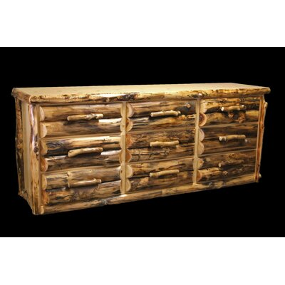 Utah Mountain Aspen 9 Drawer Dresser