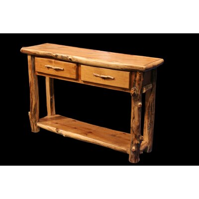 Utah Mountain Aspen 2 Drawer Console Table with ..