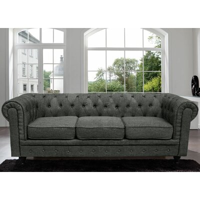 Madison Home USA Chesterfield Classic Scroll Arm Tufted Sofa Image