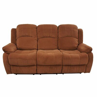 Madison Home USA Traditional Brush Microfiber Reclining Sofa