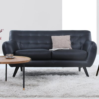Madison Home USA Mid Century Modern Tufted Loveseat