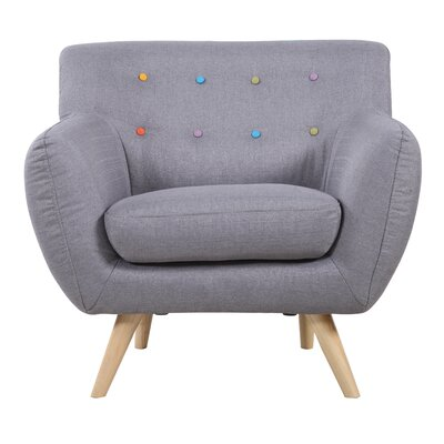 Madison Home USA Mid Century Modern Tufted Fabric Club Chair
