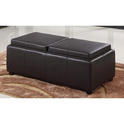 WorldWide HomeFurnishings Double Tray Storage Ottoman