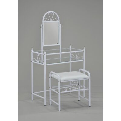 WorldWide HomeFurnishings 2 Piece Vanity Set