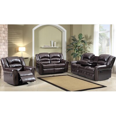Meridian Furniture USA Nailhead Reclining Living Room Collection