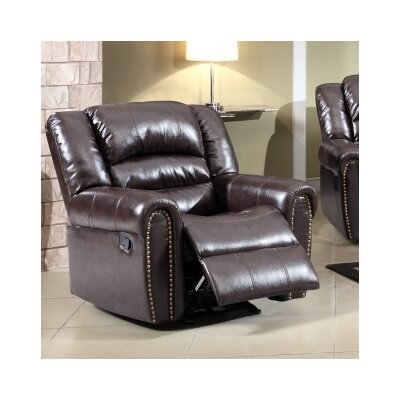 Meridian Furniture USA Nailhead Rocker Reclining Chair