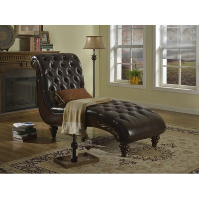 Meridian Furniture USA Bellini Leather Chaise Lounge