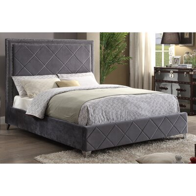 Meridian Furniture USA Upholstered Platform Bed