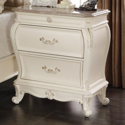 Meridian Furniture USA Marquee 2 Drawer Nightstand