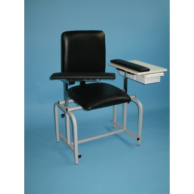 Brandt Industries Upholstered Blood Drawing Chair with Drawer