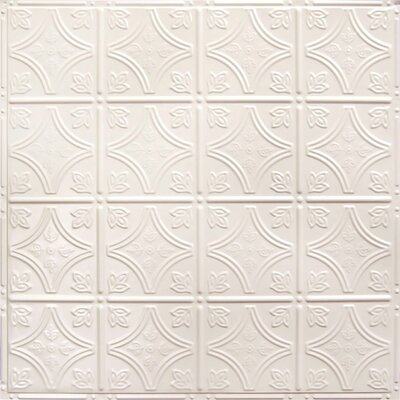 american tin ceilings 24 x 24 metal backsplash panel kit in cream