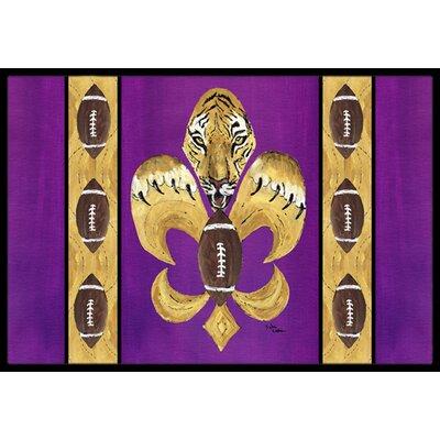 Caroline 39 S Treasures Tiger Football Fleur De Lis Doormat Wayfair